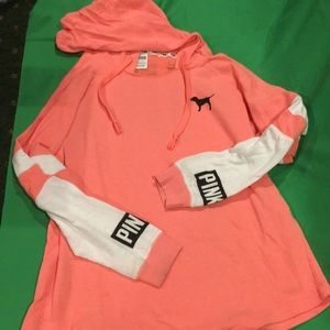 Pink coral hoodie. Perfect condition